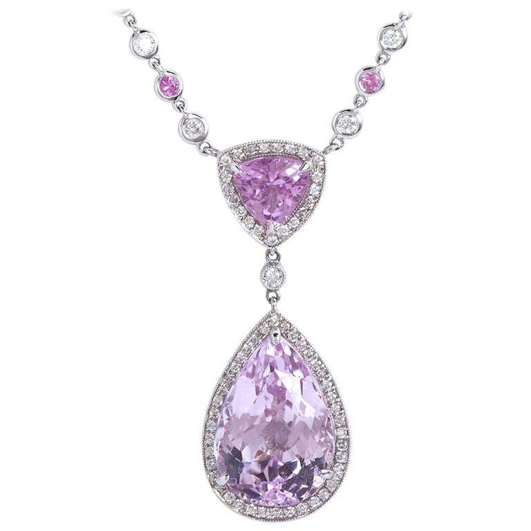 1100 carat pink pear shape kunzite pendant for sale at 1stdibs 1100 carat pink pear shape kunzite pendant for sale mozeypictures Gallery