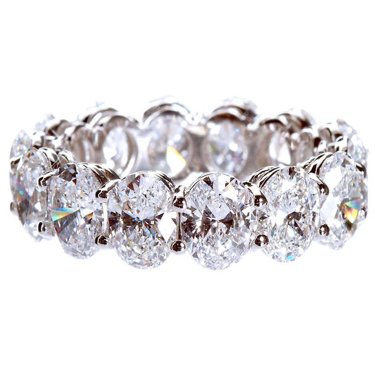 Oval Diamond Eternity Band Oval Shaped Diamond Eternity