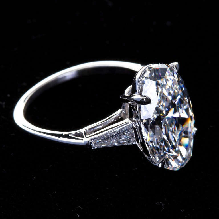5 65 Carat E VVS2 Oval Diamond Engagement Ring at 1stdibs