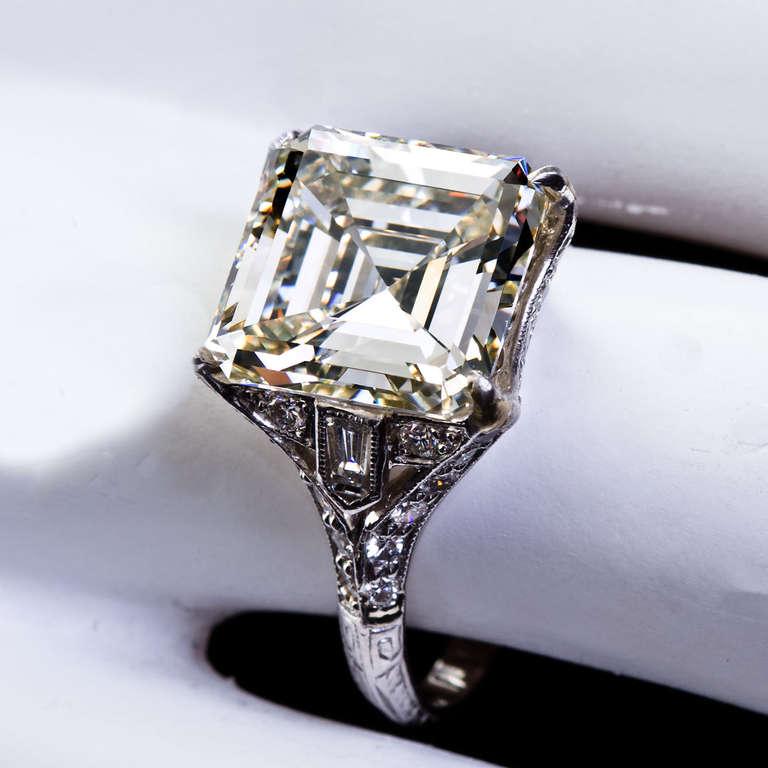 Art Deco Square Cut Diamond Ring