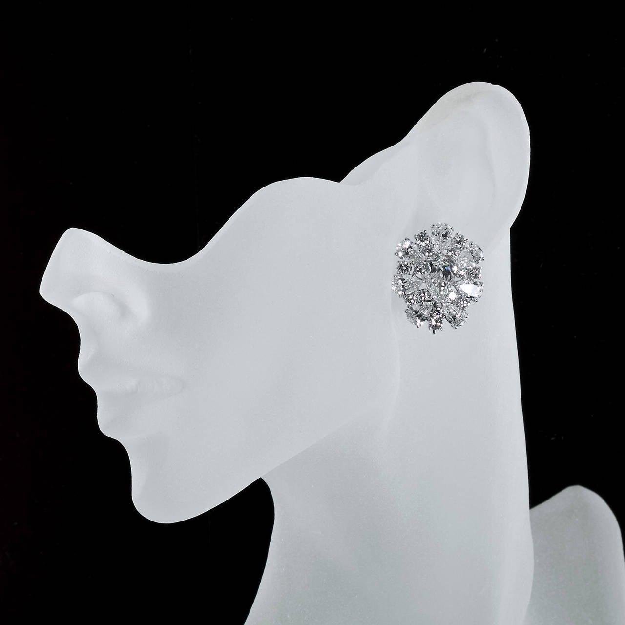 Diamond Cluster Colombian Emerald Drop Earrings 6