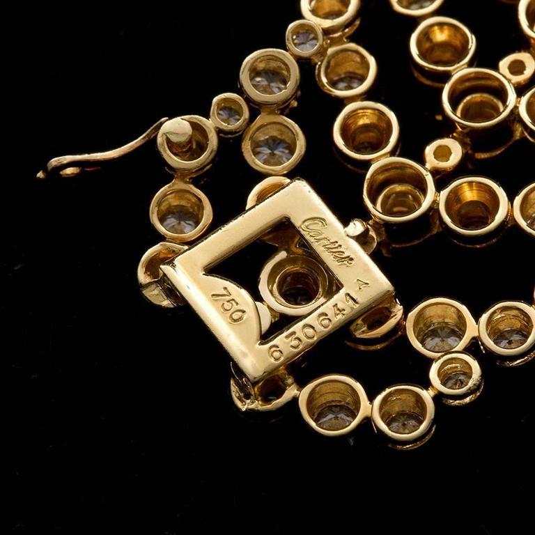 Women's Cartier Paris Vintage Diamond in Gold Choker Necklace For Sale