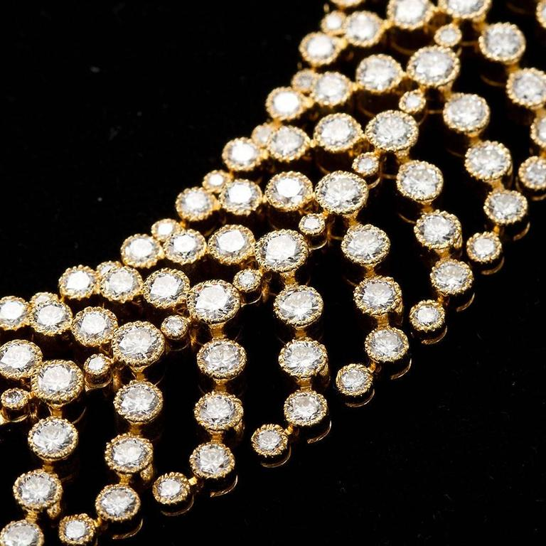 Cartier Paris Vintage Diamond in Gold Choker Necklace In Excellent Condition For Sale In New York, NY