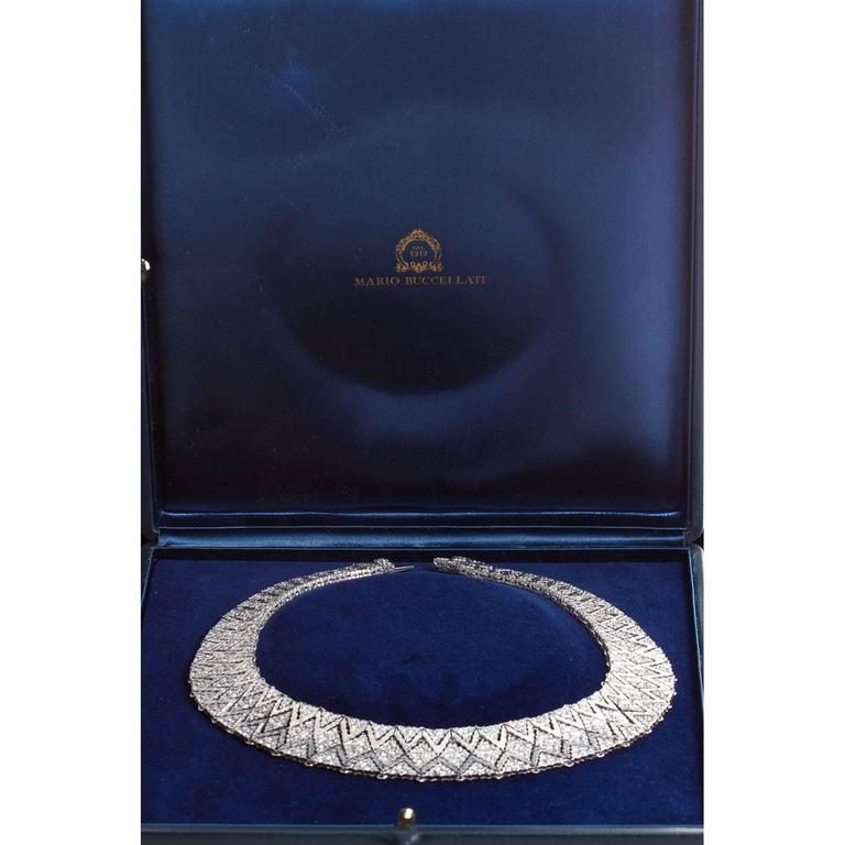 Women's Mario Buccellati Diamond Bib Necklace For Sale