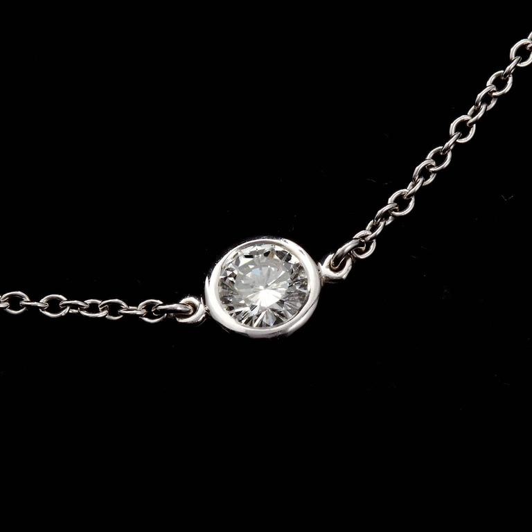4.80 Carat Diamond by the Yard Necklace In New Condition For Sale In Lakewood, NJ