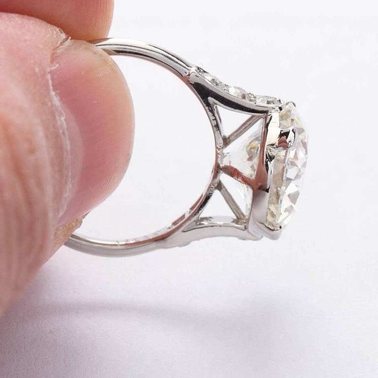 Women's CARTIER Paris Four Carat Diamond Engagement Ring GIA For Sale