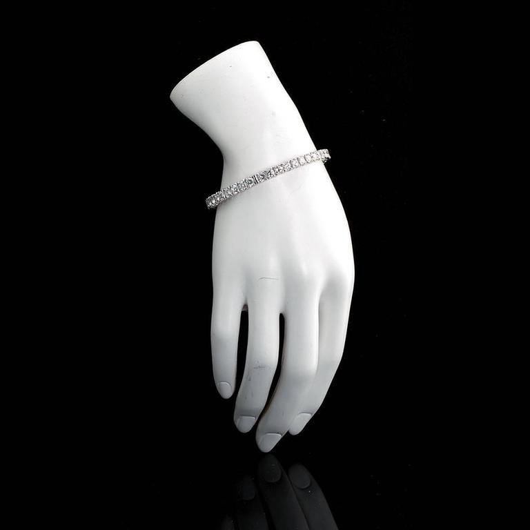 Diamond Gold Tennis Bracelet Bangle Bracelet 2