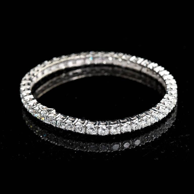 Diamond Gold Tennis Bracelet Bangle Bracelet 3