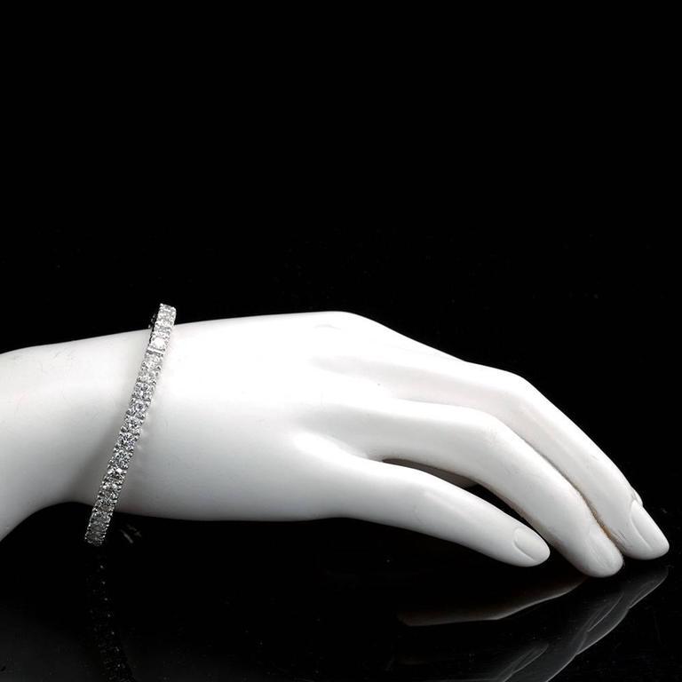 Diamond Gold Tennis Bracelet Bangle Bracelet 4