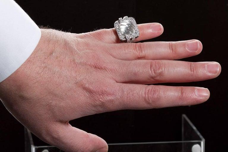 David Webb Rock Crystal Ring For Sale 1