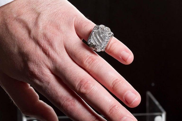 David Webb Rock Crystal Ring For Sale 2