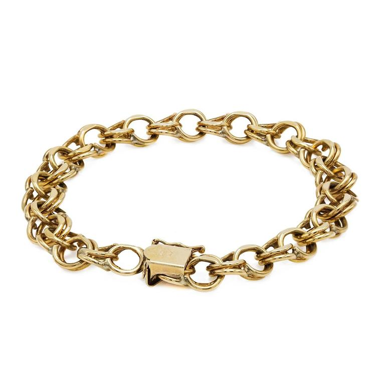 Gold Chain Link Bracelet For Sale