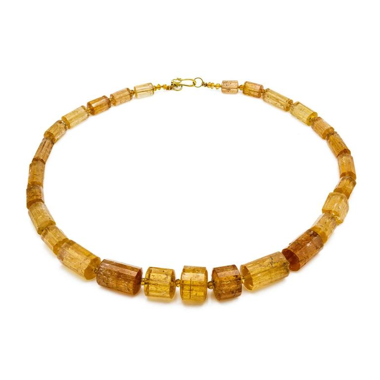 Topaz Channel Beads Necklace
