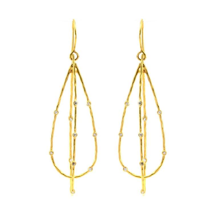 18 Karat Diamond Drop Earrings