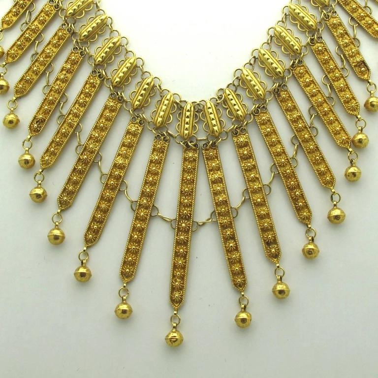 Persian Gold Filigree Choker Necklace For Sale at 1stdibs