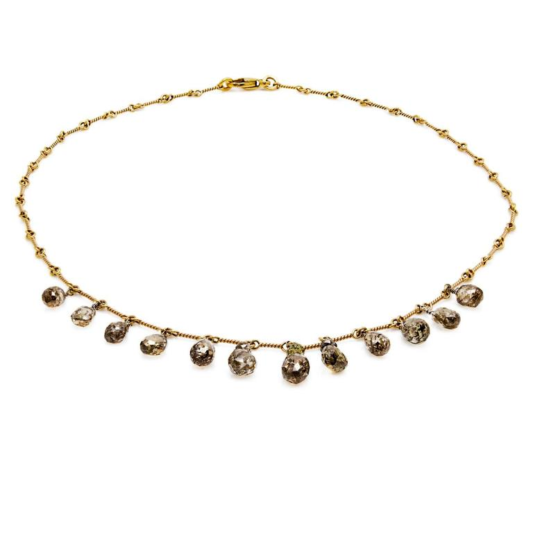 Contemporary Persian Gold Filigree Choker Necklace For Sale