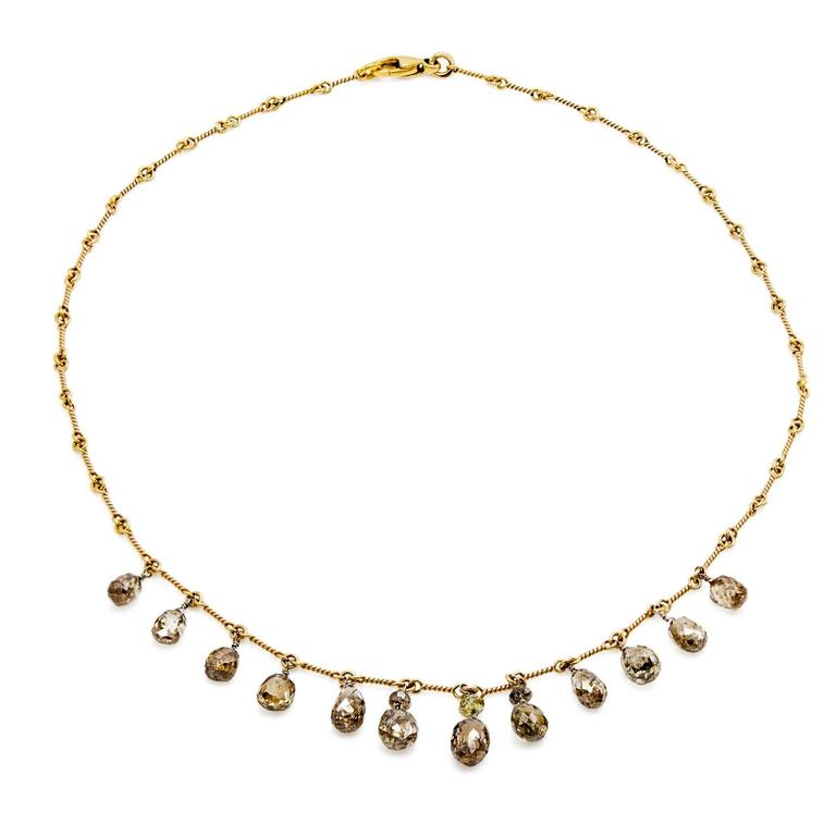 Persian Gold Filigree Choker Necklace In Excellent Condition For Sale In Berkeley, CA