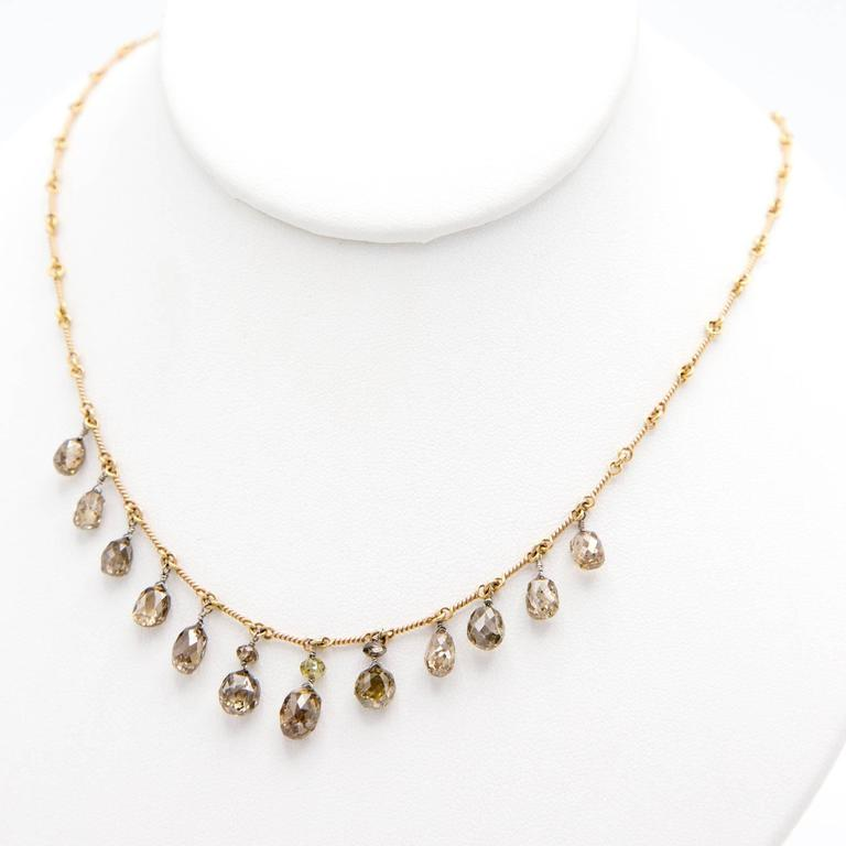 Persian Gold Filigree Choker Necklace For Sale 1