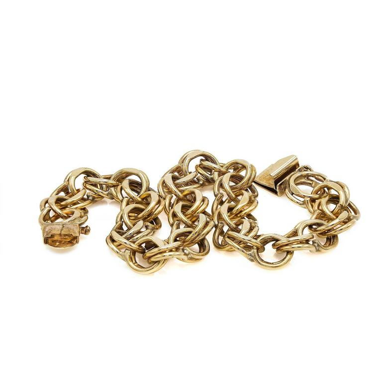 Gold Chain Link Bracelet In Excellent Condition For Sale In Berkeley, CA