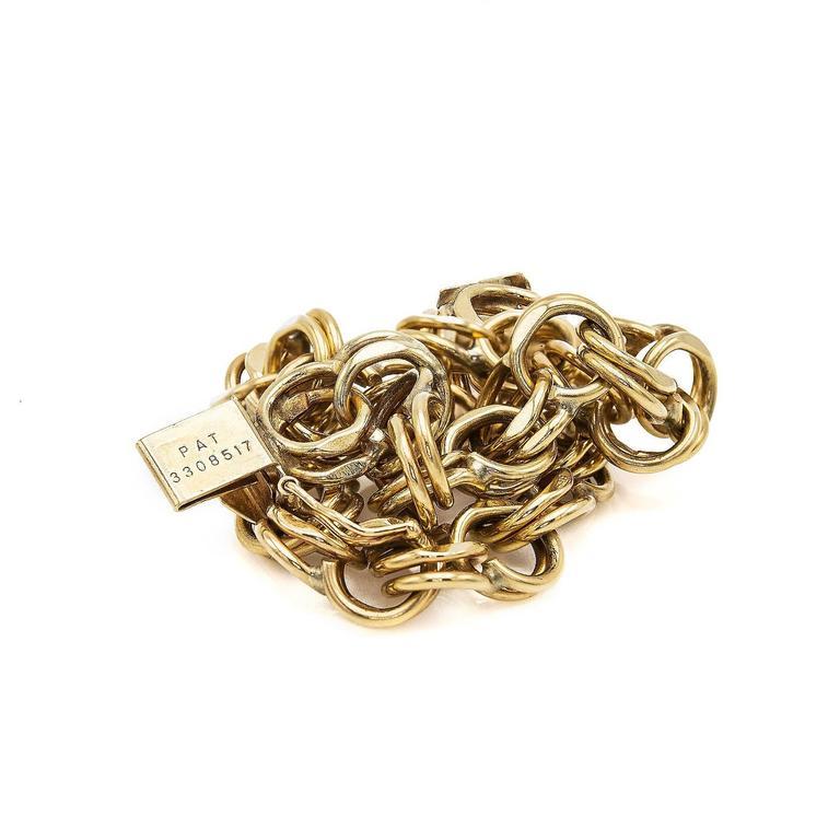 Women's Gold Chain Link Bracelet For Sale