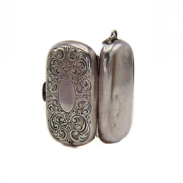 Antique victorian sterling silver coin holder locket 1880s for sale antique victorian sterling silver coin holder locket 1880s in excellent condition for sale in aloadofball Images