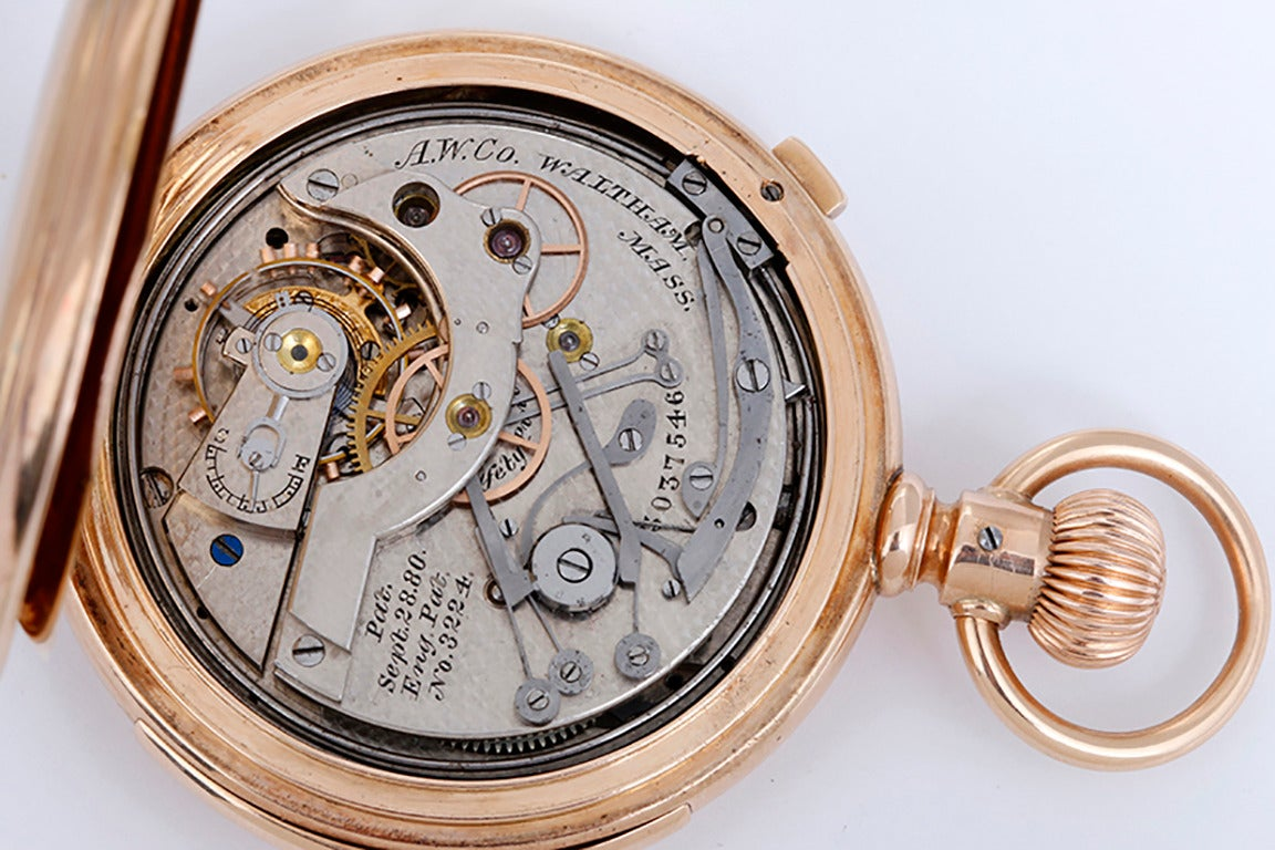 collectible waltham five minute repeating chronograph