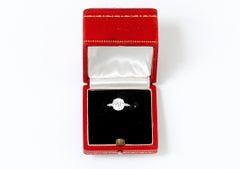 Stunning Vintage Cartier Platinum and Diamond Ring, ca. Paris 1960's