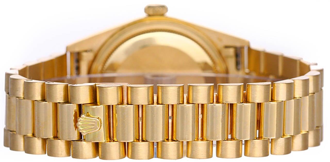 Rolex Gold Day-Date Black Jubilee Dial President Wristwatch Ref 18038 2