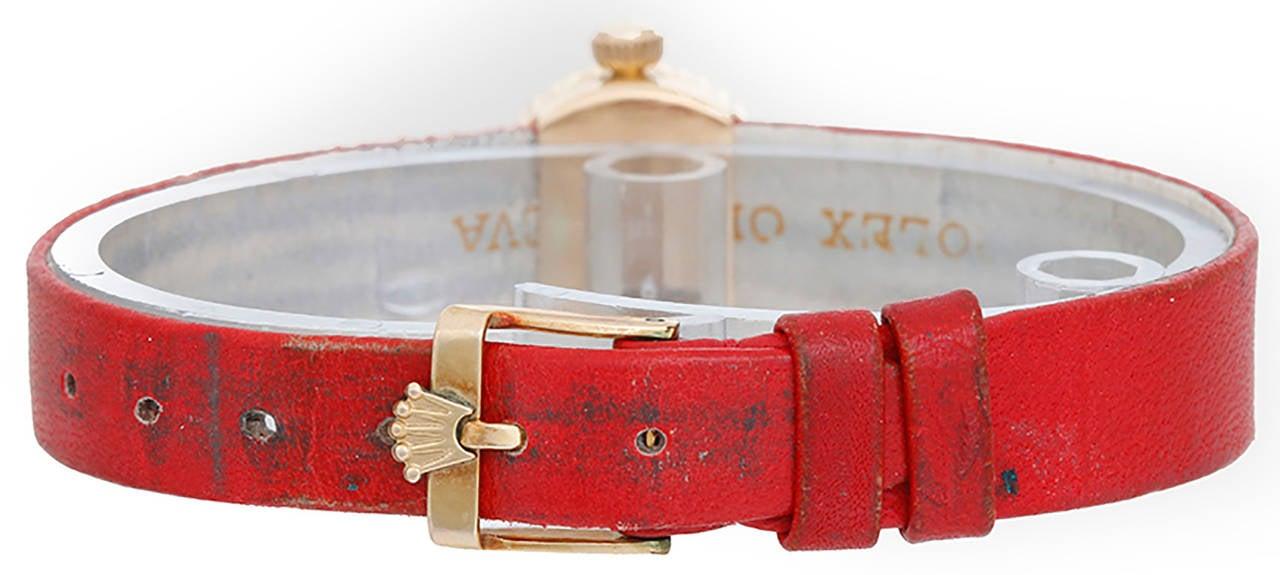 Rolex Lady's Orchid Chameleon Wristwatch Circa 1962 Ref 2059 2