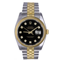Rolex Stainless Steel and Gold Datejust Wristwatch Ref 116233