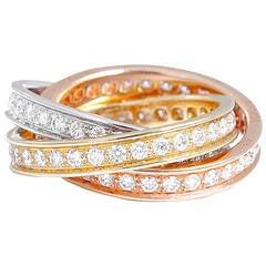 Cartier Trinity Tricolor Diamond Ring