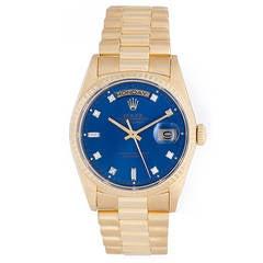 Rolex President Day-Date Factory Diamond Men's Yellow Gold Watch 18238