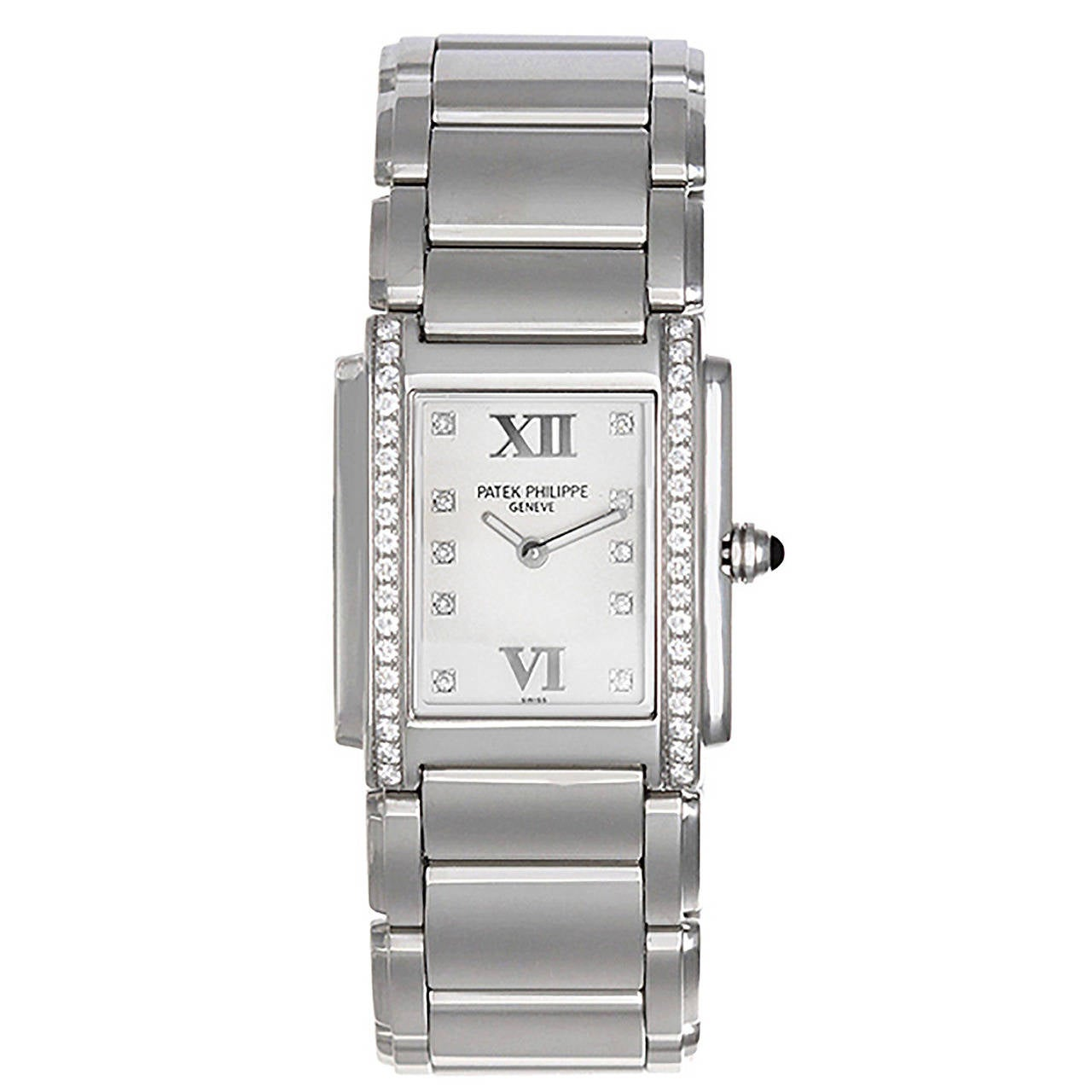 Patek Philippe Lady's Stainless Steel Twenty-4 Quartz Wristwatch 1