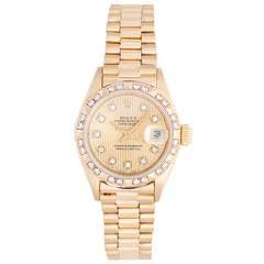 Rolex Ladies President Gold & Diamond Watch 69178