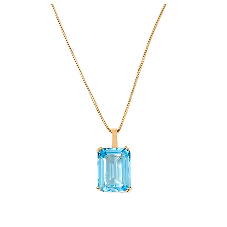 Stunning Topaz Yellow Gold Necklace