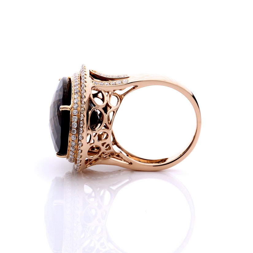 amazing smoky quartz gold ring at 1stdibs