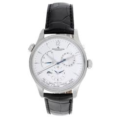 Jaeger-LeCoultre Stainless Steel Master Geographic Automatic Wristwatch