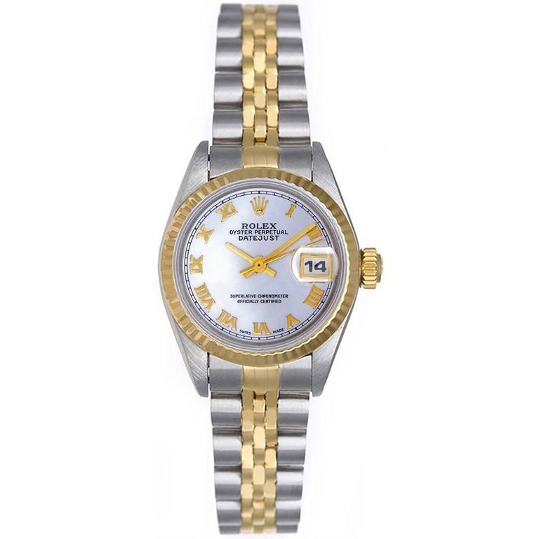 Rolex  Datejust 2-tone Steel & Gold Ladies Watch 69173