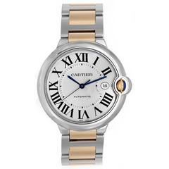 Cartier Ballon Bleu Yellow Gold Stainless Steel Automatic Wristwatch W69009Z3