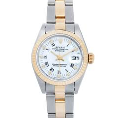 Rolex Ladies Yellow Gold Stainless steel Datejust White Dial Automatic Watch