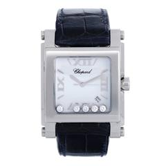 Chopard Ladies Stainless Steel Happy Sport Diamond Quartz Wristwatch Ref 28/8447