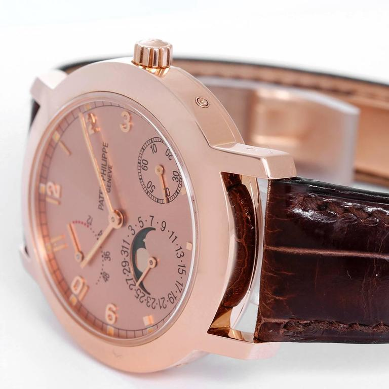 Patek Philippe Rose Gold Annual Calendar Automatic Wristwatch  In Excellent Condition For Sale In Dallas, TX