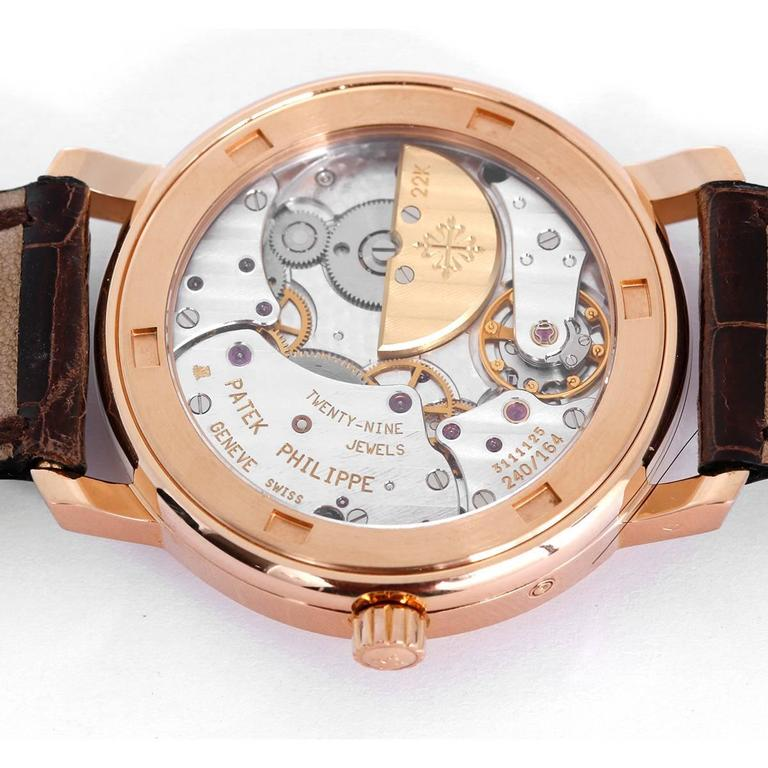 Patek Philippe Rose Gold Annual Calendar Automatic Wristwatch  4