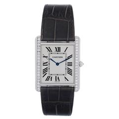 Cartier White Gold Tank Louis Manual wind Wristwatch Ref WT2000006