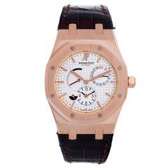 Audemars Piguet Rose Gold Royal Oak Dual Time Automatic Wristwatch
