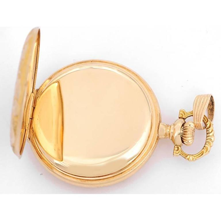 Vintage Waltham Yellow Gold Ladies Pendant Watch For Sale 1