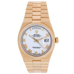 Rolex Yellow Gold Oysterquartz President Day-Date Quartz Watch Model 19018
