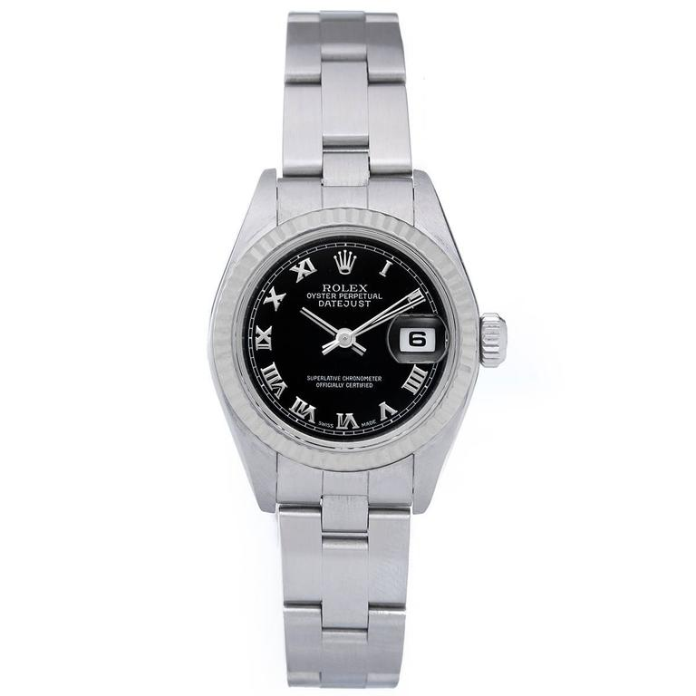 Rolex Ladies Stainless Steel Datejust Automatic Wristwatch Ref 79174