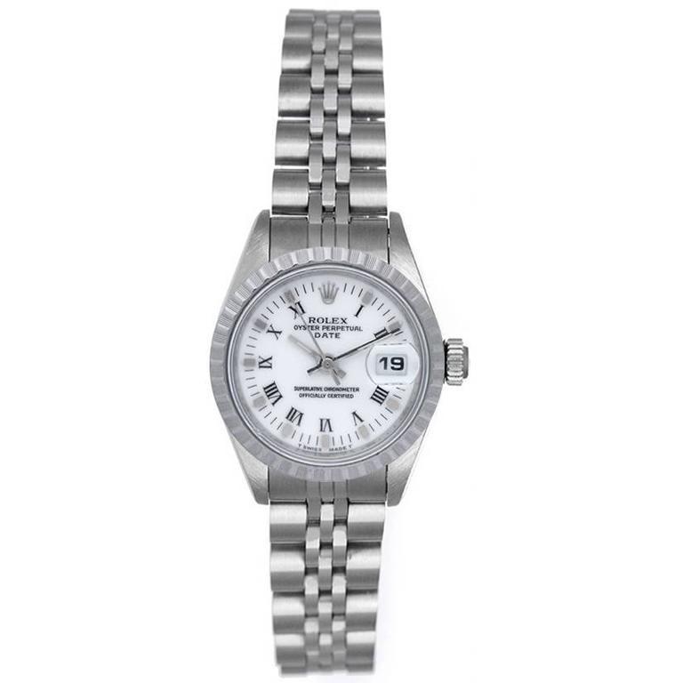 Rolex Ladies Stainless Steel Datejust Automatic Wristwatch Ref 69240