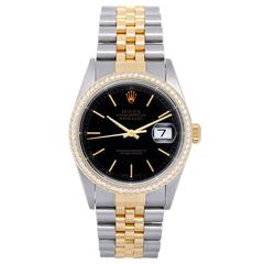 Rolex Datejust Yellow Gold Stainless Steel Jubilee Bracelet Automatic Wristwatch